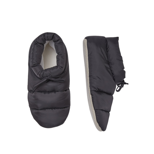 Puffy Slipper Socks - Black