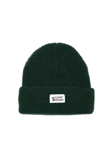 Camp Brand Goods Mountain Logo Waffle Toque - College Green