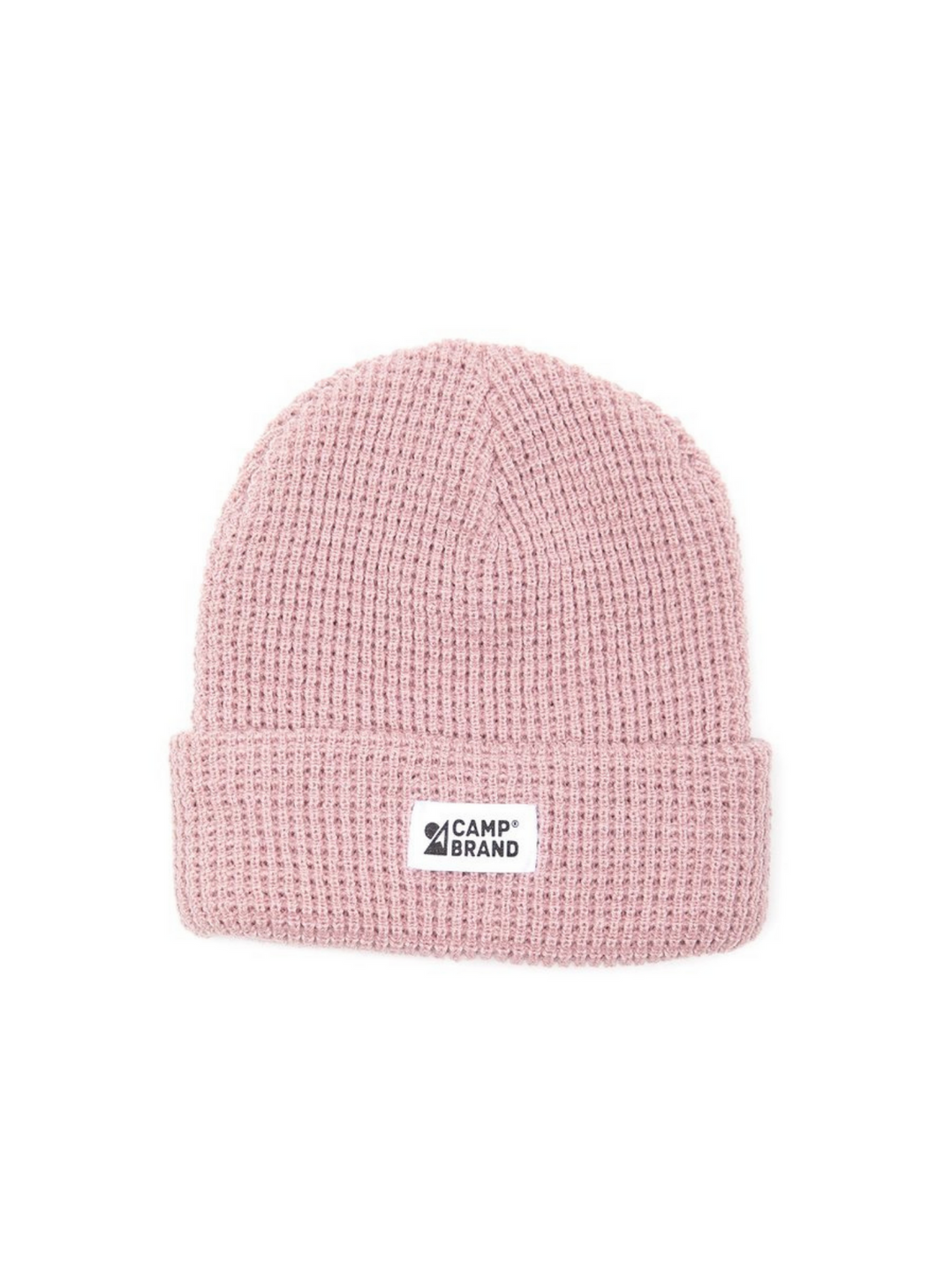 Camp Brand Goods Mountain Logo Waffle Toque - Pale Rose