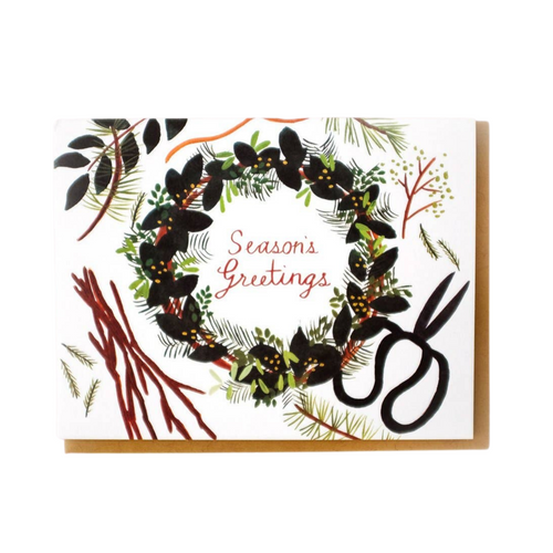 Foraged Wreath Card