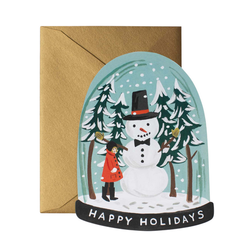 Snow Globe Die-cut Card