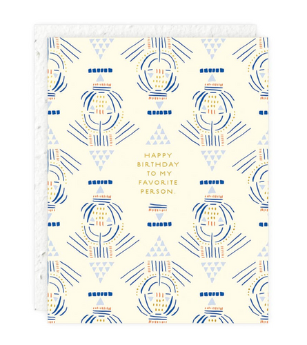 Lines & Triangles Birthday Card
