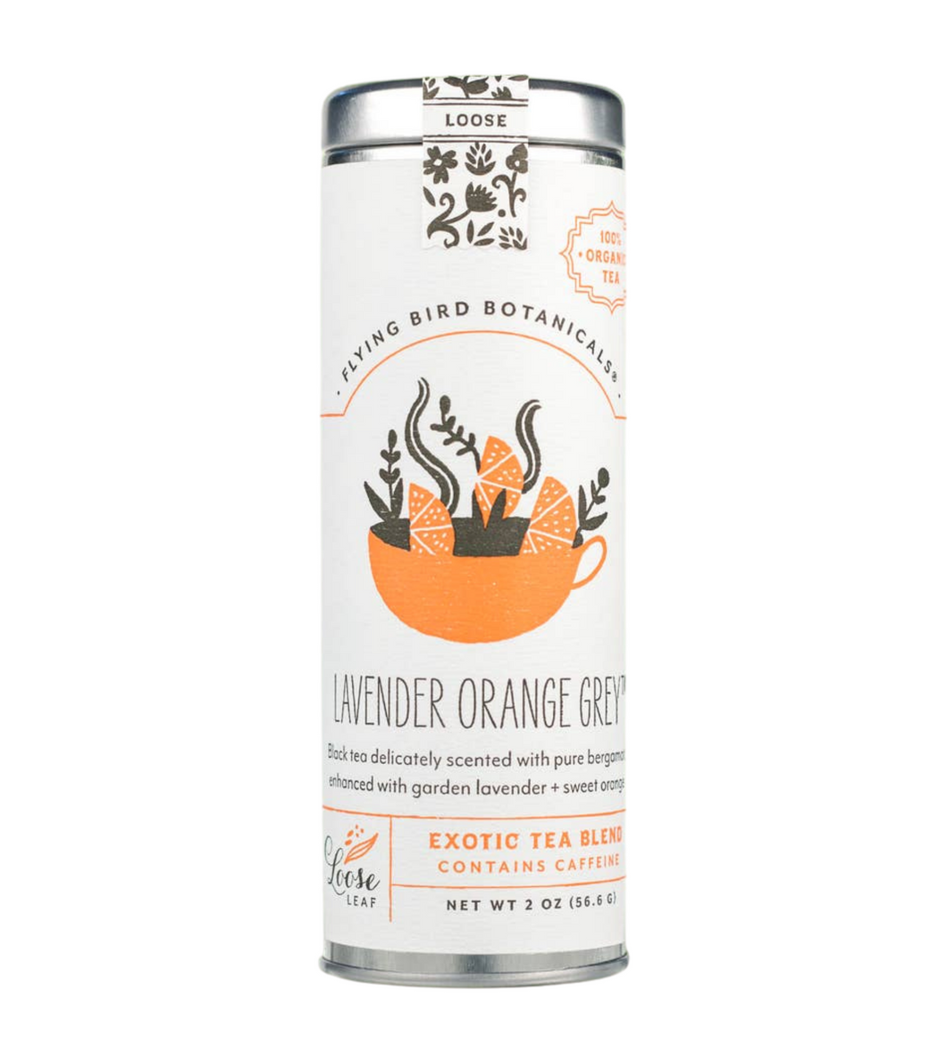 Lavender Orange Grey Loose Leaf Tea