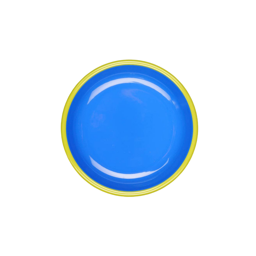 Colorama Mini Plate - Electric Blue with Chartreuse
