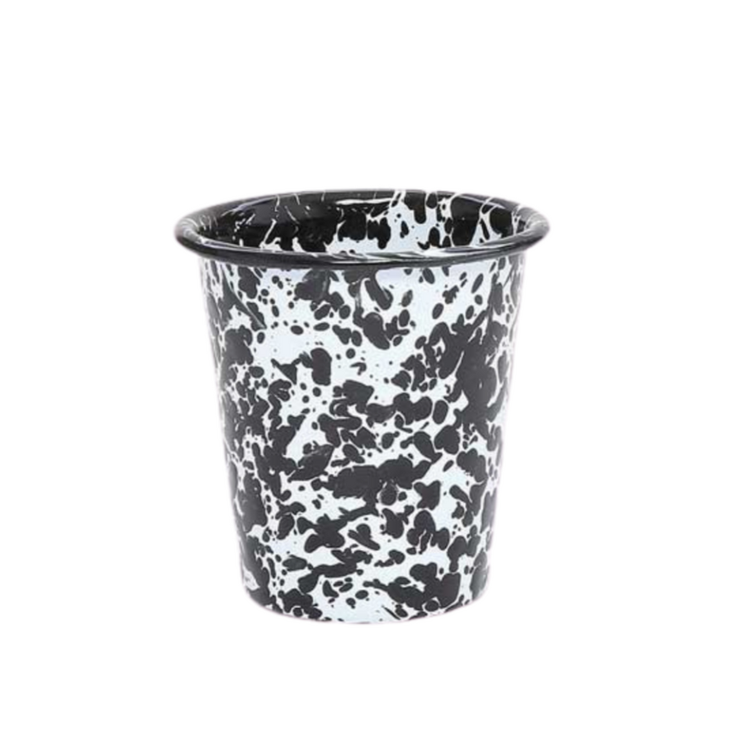 Splatterware Short Tumbler - Black + White