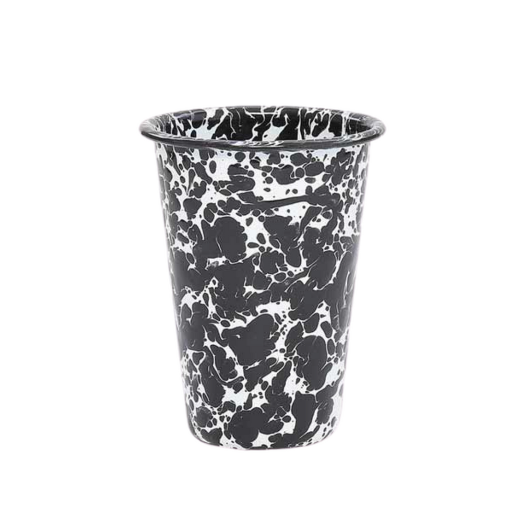 Splatterware Tall Tumbler - Black + White