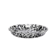 Splatterware Pasta Plate - Black + White