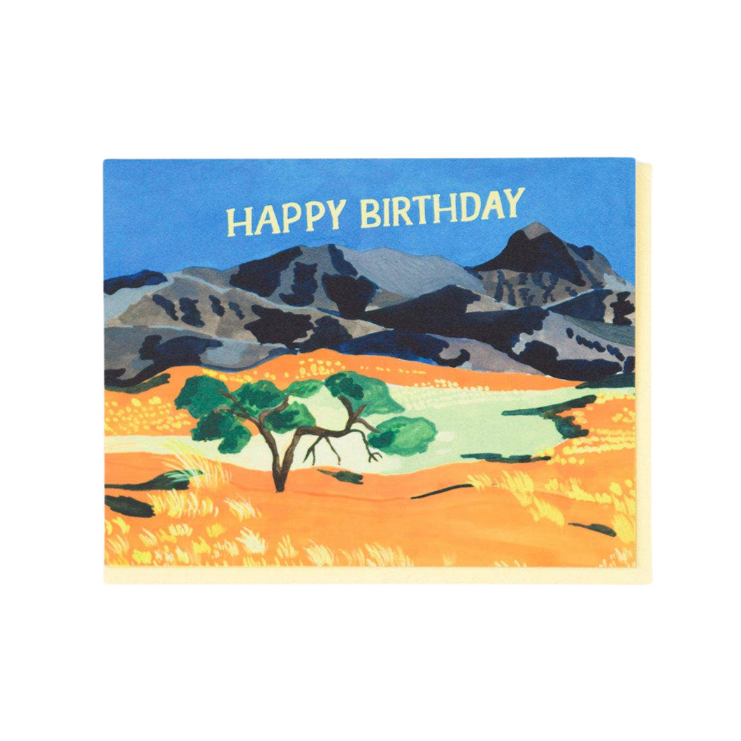 Orange Plains Birthday Card