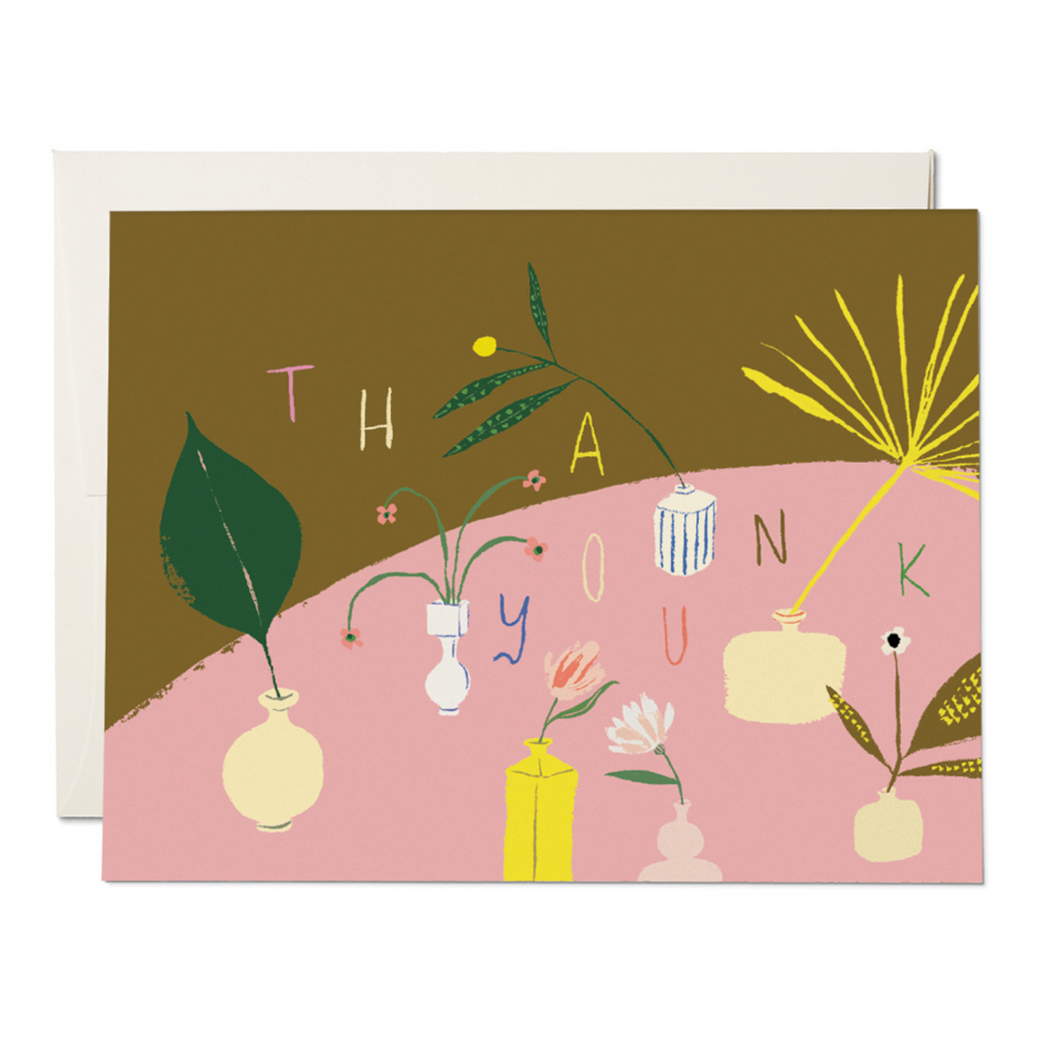 Modern Vases Thank You Card