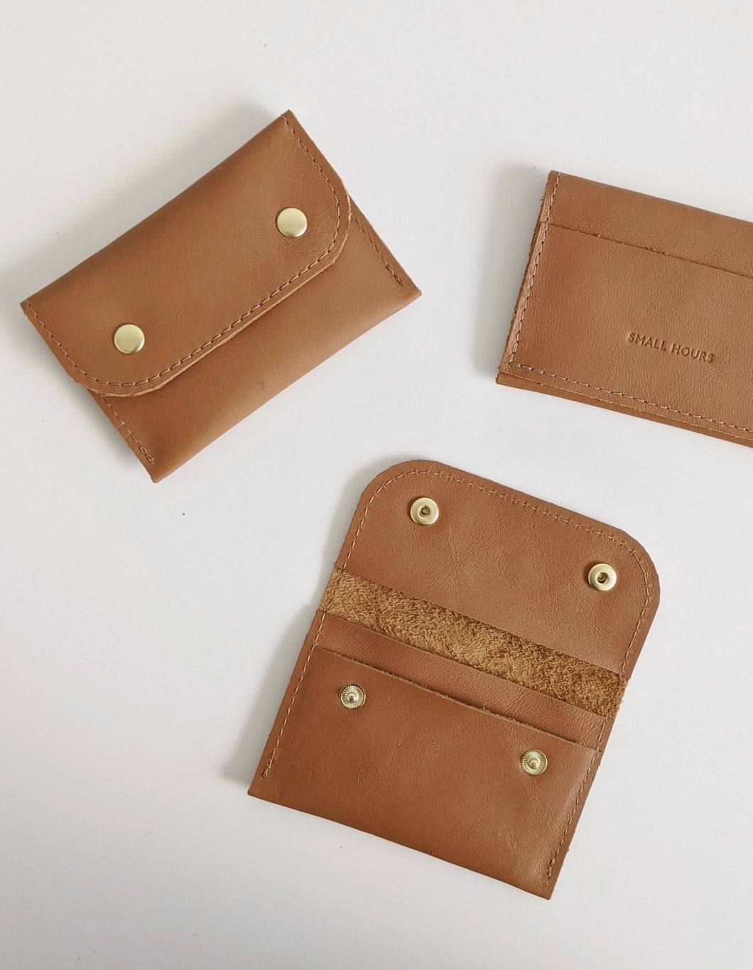 Double Snap 3-pocket Wallet - Tan Brown