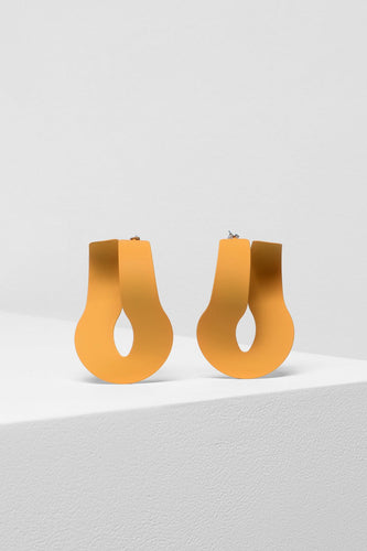 Loppa Earrings - Mustard