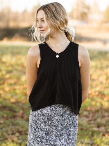 Famtio Knitted Tank - Black