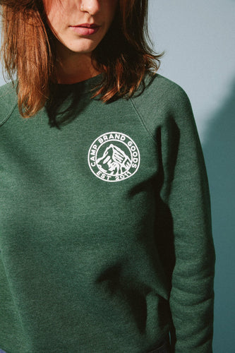 Heritage Crest Fleece Sweatshirt - Emerald Heather