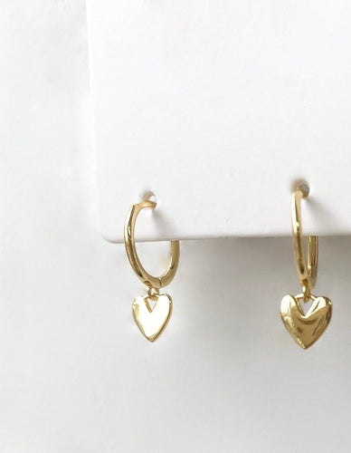 *COMING SOON* Heart Huggie Hoops - Gold