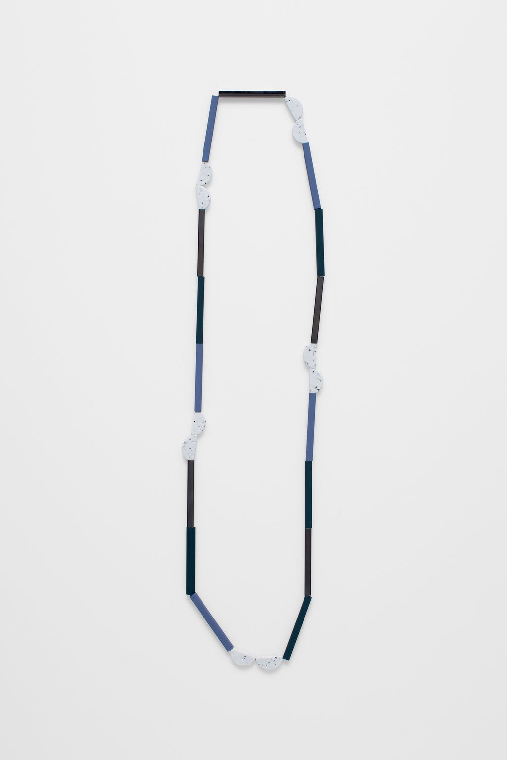 Plettet Necklace- Denim/White Multi