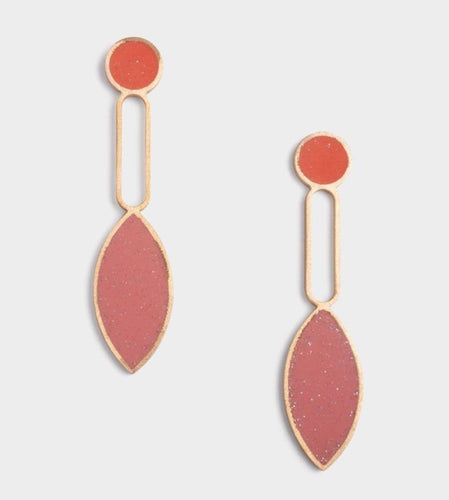 Layla Earrings - Poppy + Pink