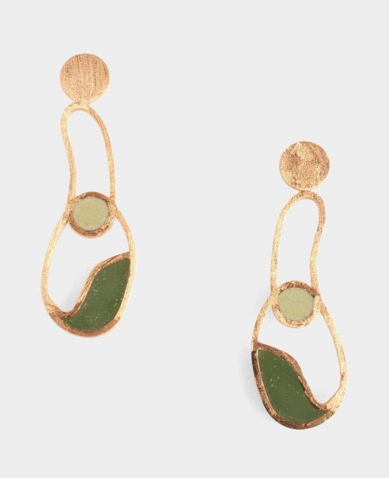 Linda Earrings - Green