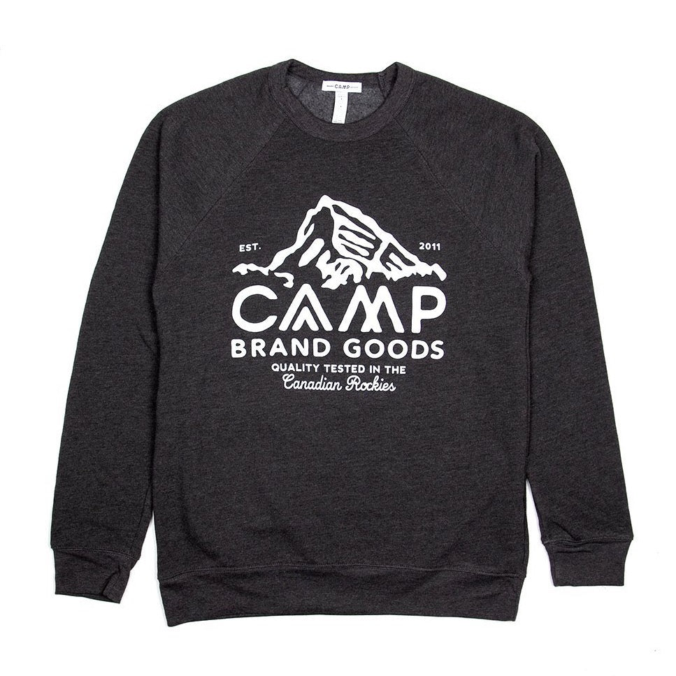 Peak Logo Fleece Sweatshirt - Dark Grey