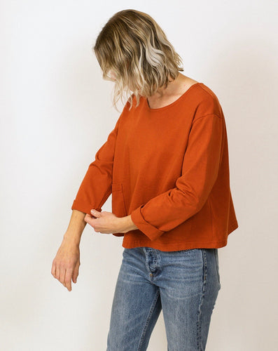 Cotton Pocket Top - Pumpkin