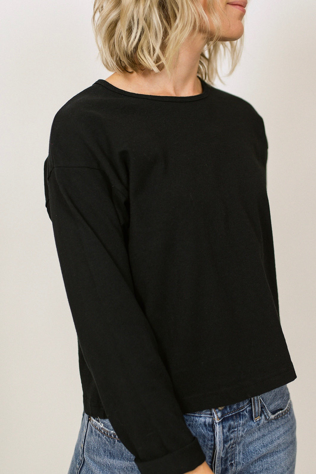 Cotton Crop Longsleeve - Black