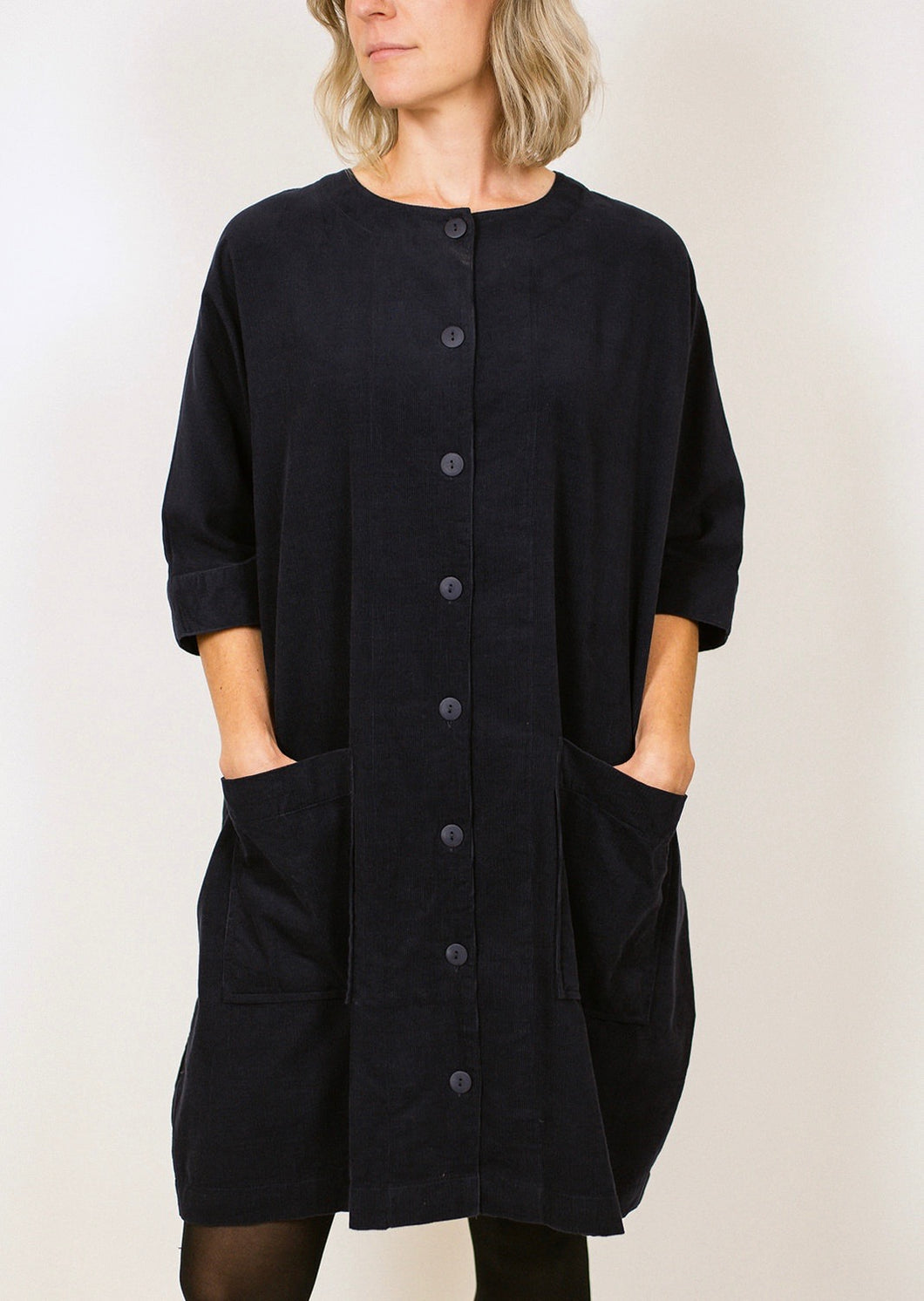 Corin Corduroy Dress - Navy