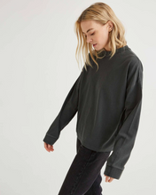 Long Sleeve Relaxed Tee - Stretch Limo