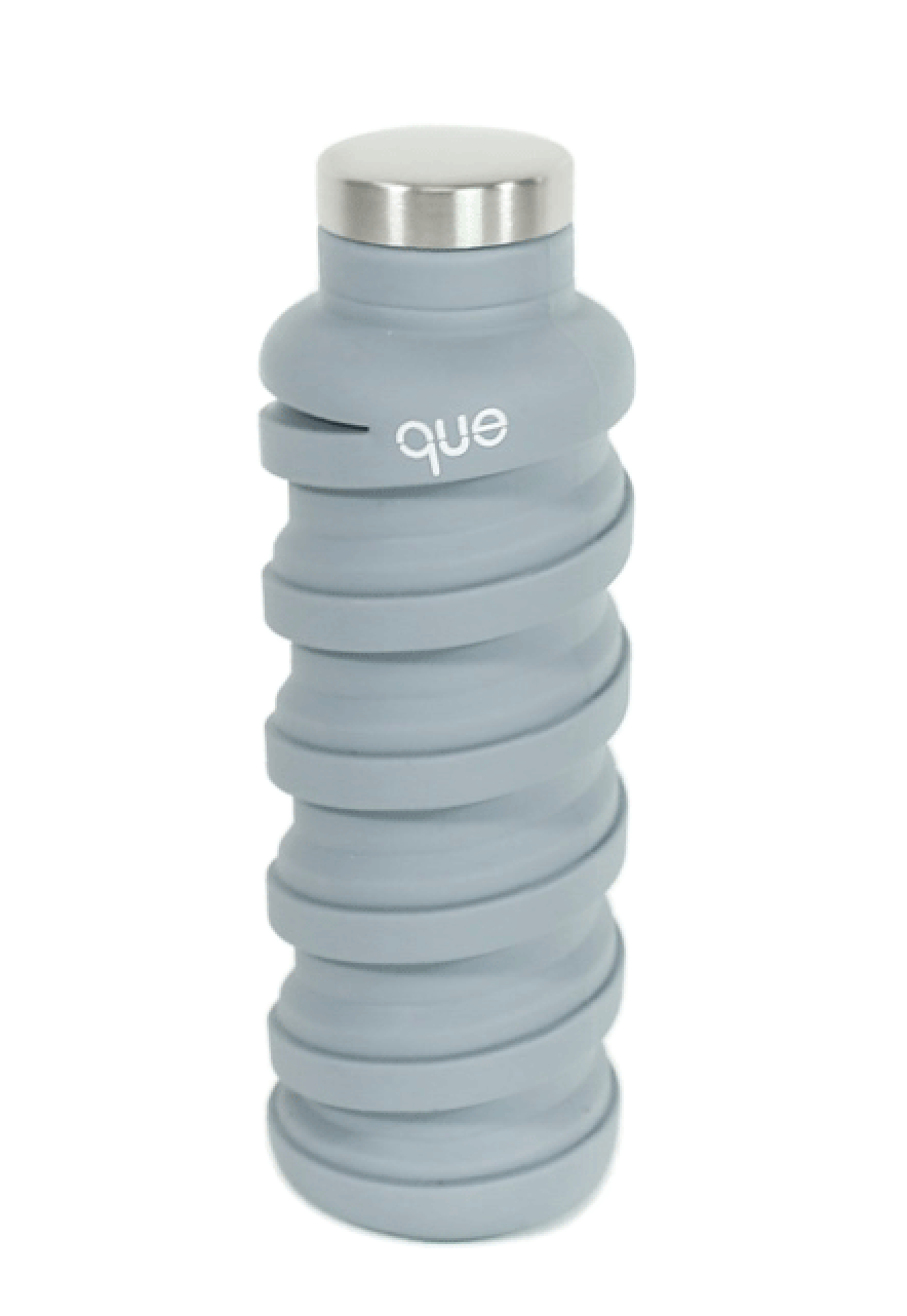 Que Collapsable Bottle - 20 oz - Stone Grey