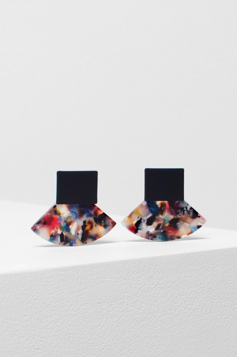 Heden Earrings - Black Multi