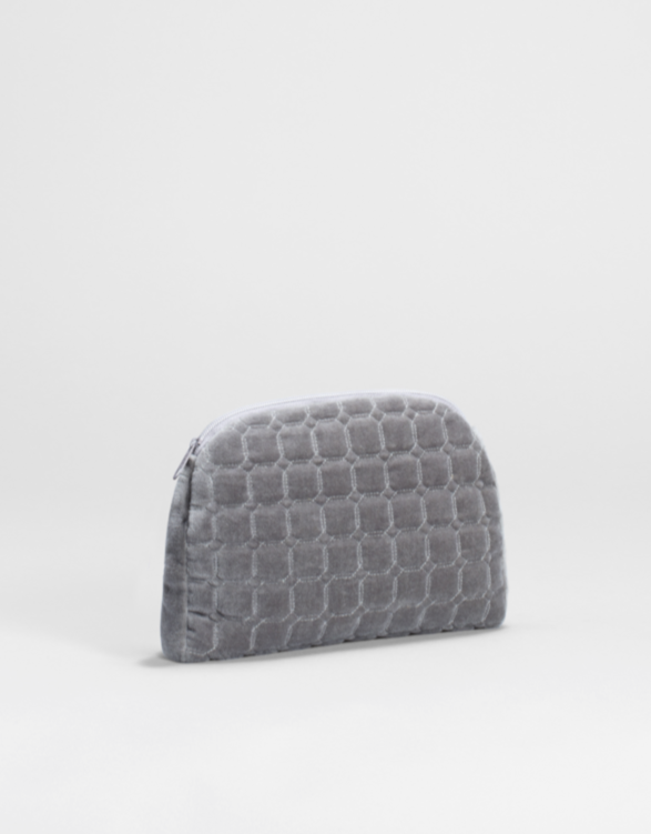 Inka Velvet Clutch - Grey