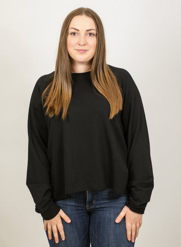 Bamboo French Terry Crewneck - Black