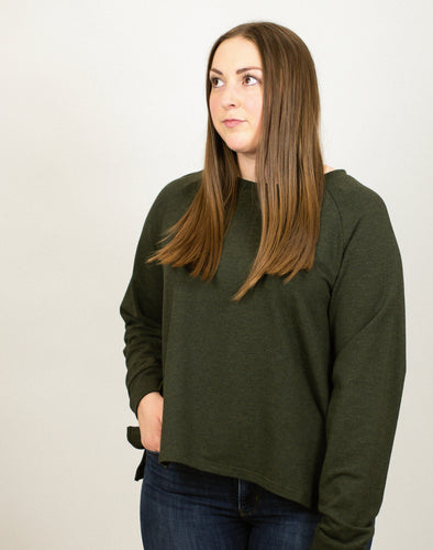 Bamboo French Terry Crewneck - Olive