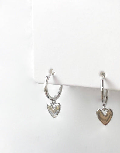 *COMING SOON* Heart Huggie Hoops - Silver