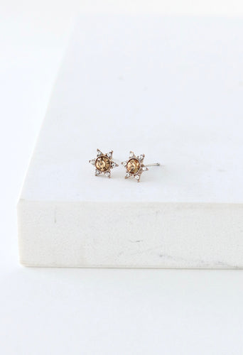 Starlit Stud Earrings - Light Topaz