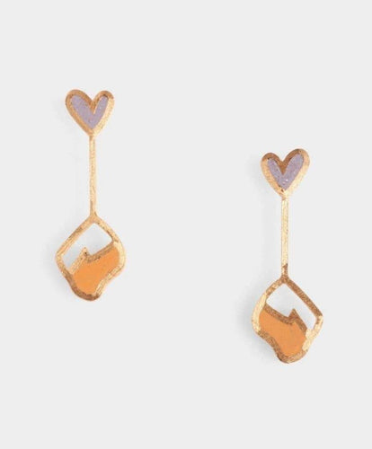 Luna Earrings - Lavender + Apricot