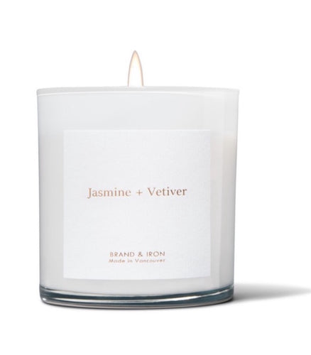 Jasmine + Vetiver - Soy Candle