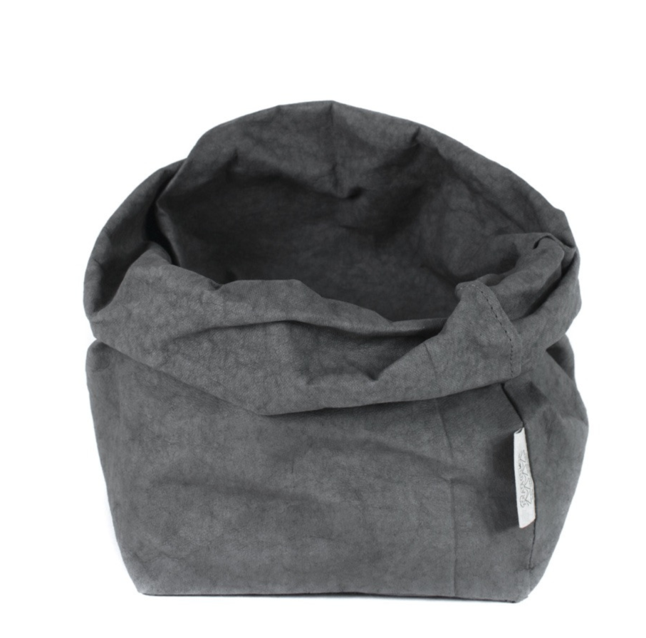 Dark Grey Uashmama Paper Bag (Multiple Sizes)