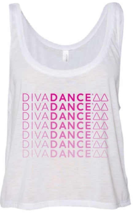DivaDance White Ombre Tank Top