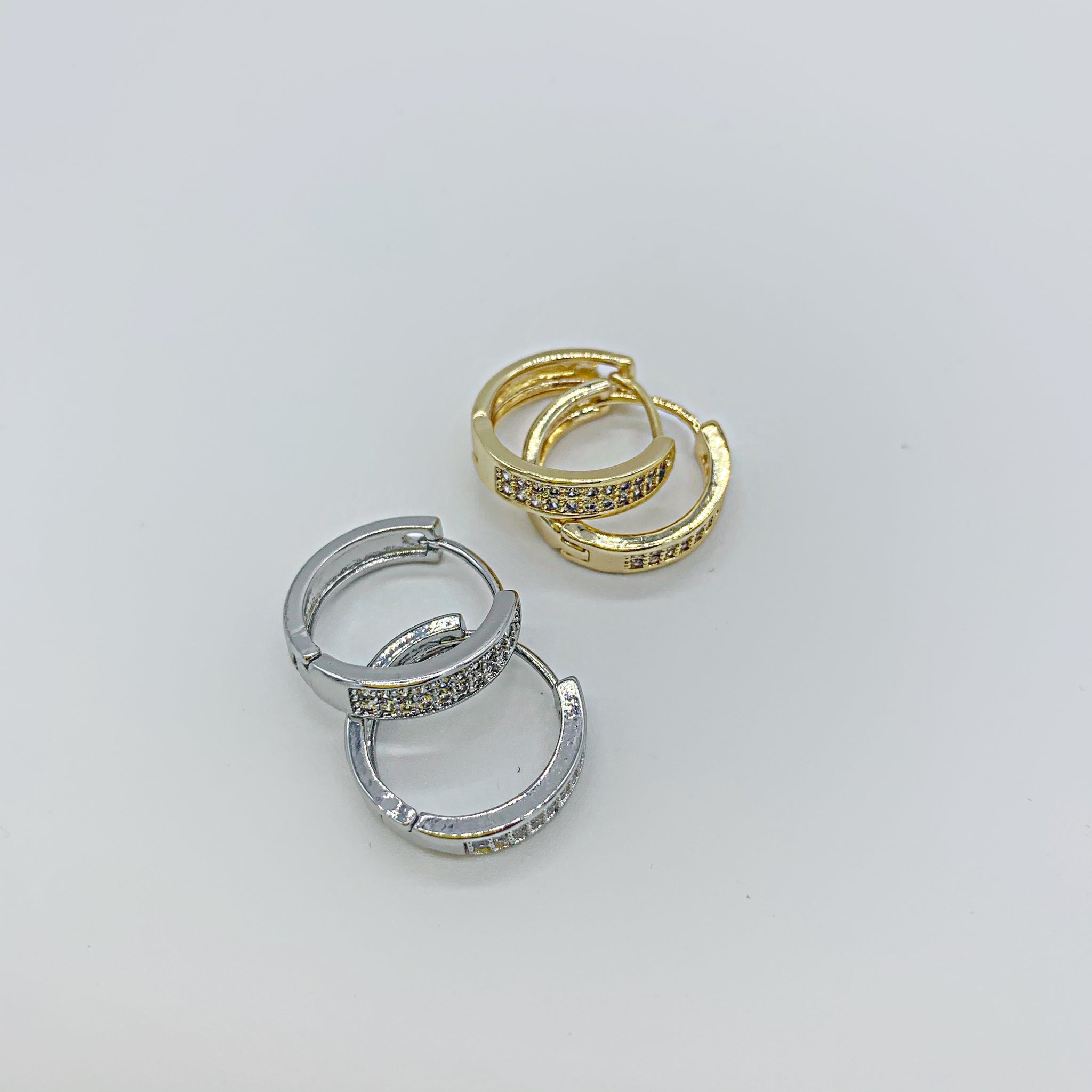 CZ Huggie Hoops -back in stock soon