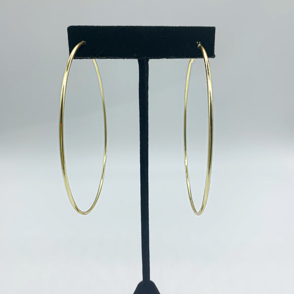 "3"" Gold Hoops"