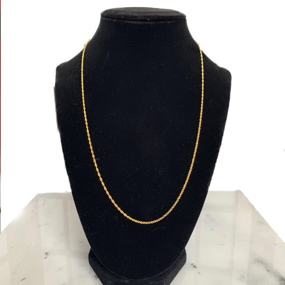 "20"" Gold Rope Chain"