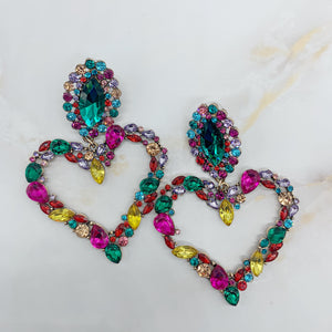 Daphne Rainbow Heart Earrings