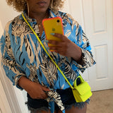Mini Neon Croc Crossbody