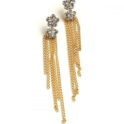 Chain Tassel Stone Earrings