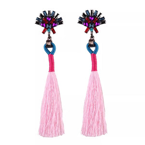 Peacock Pink Earrings