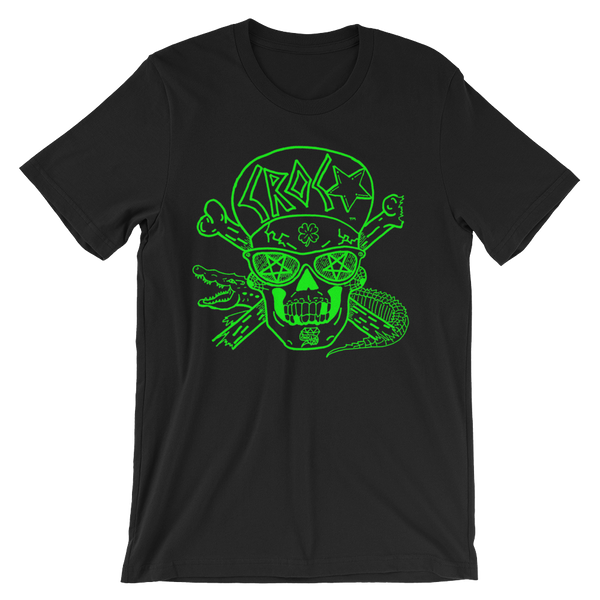CrocSkull Black with Green