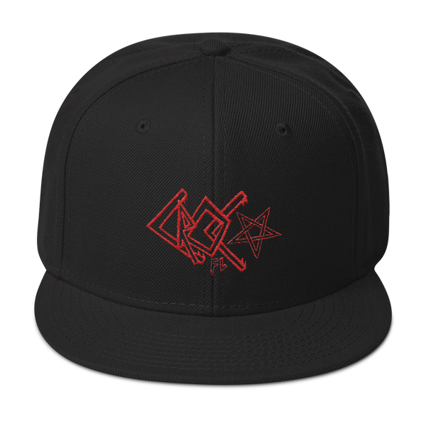 CrocFont Embroidered Snapback Hat