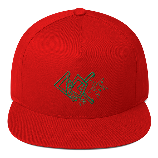 CrocFont Flat Bill Cap