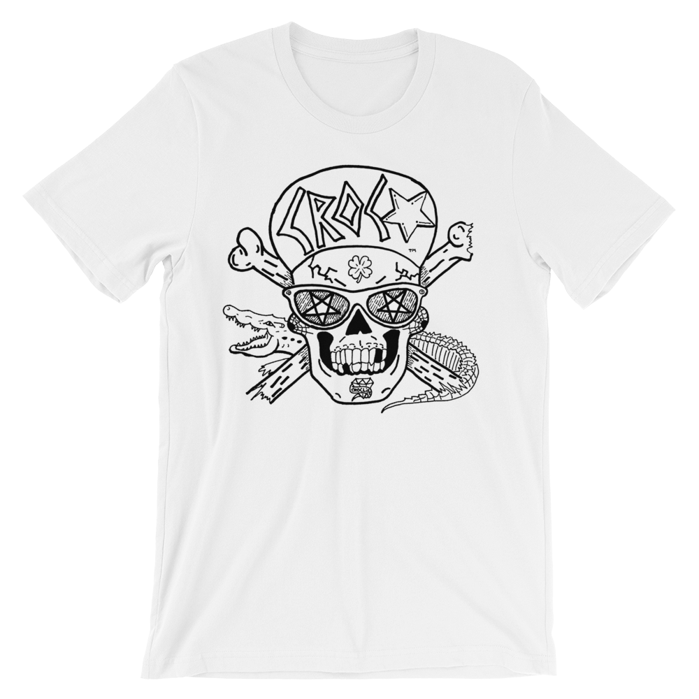 CrocSkull and Crossbones White