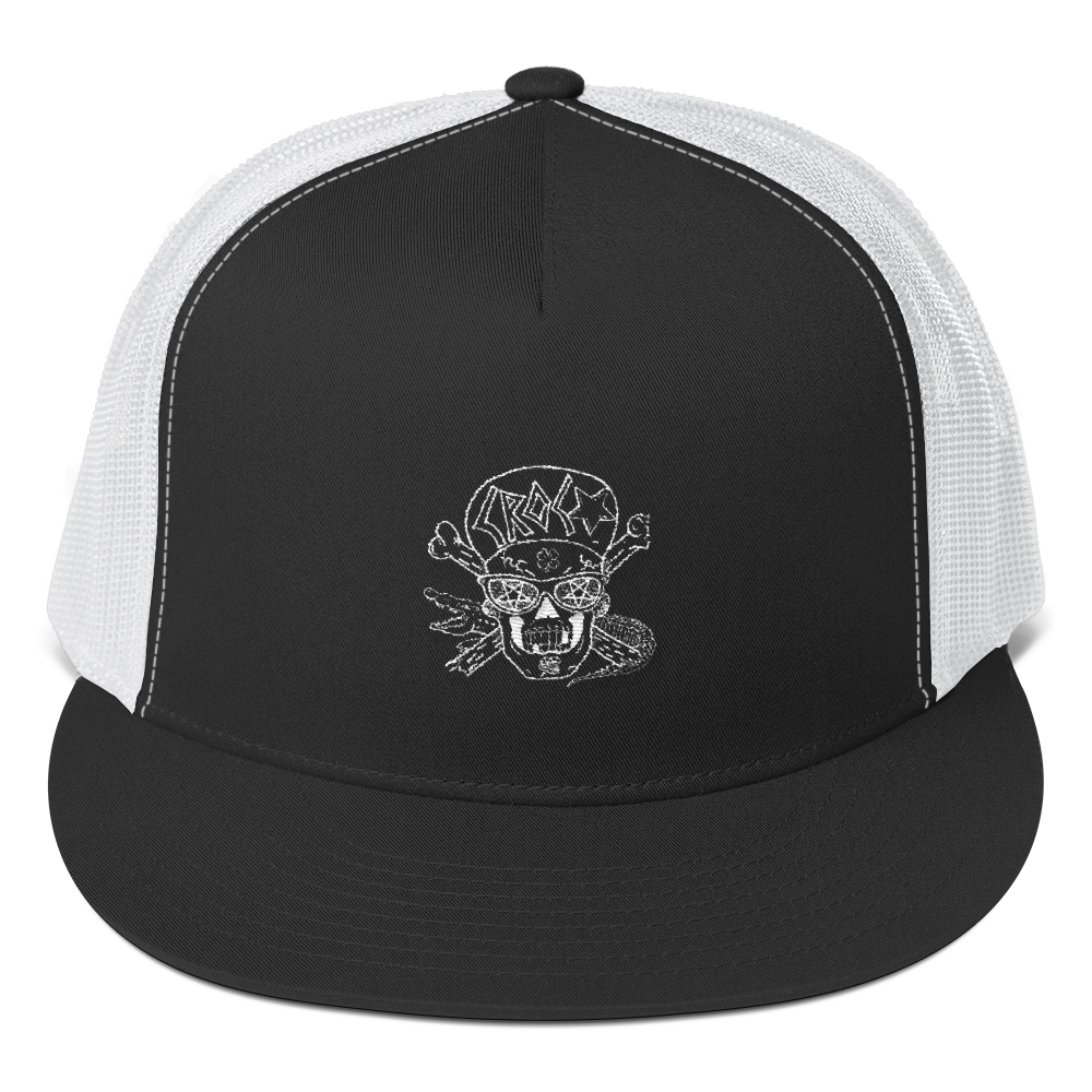 CrocSkull and Crossbones Trucker Cap