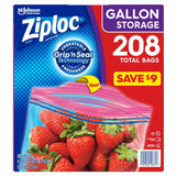 Ziploc Easy Open Tabs Storage Gallon Bags (208ct.)